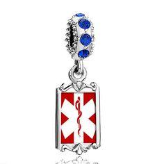 Pugster Blue Sapphire Swarovski Crystal Dangle Gold Plated Sign Medical Alert Photo Heart European Bead Bracelets Frame Bead Fits Pandora Charms Chamilia Biagi Bracelet Pugster. $16.49. Size (mm): 9.42*2.6*27.54. Weight (gram): 3.8. Color: Sapphire. Metal: Silver Tone