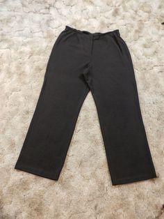 NWT 188$ EILEEN FISHER WOMAN Sz 1X DARK CHOCOLATE JERSEY WIDE LUXE TROUSER PANTS #EileenFisher #CasualPants