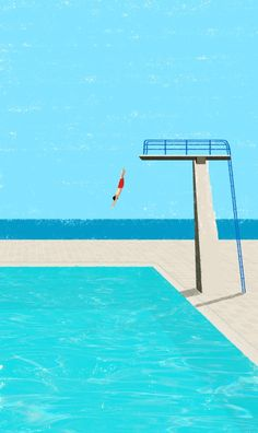 December 2014 ☞ Illustration ☞ is a freelance illustrator based in Freiburg, Germany. Minimal illustrations of solitary figures at the beach or by the swimming pool. Comics Illustration, Flat Illustration, Digital Illustration, Art Plage, New Foto, City Poster, Grafik Design, Pop Art, Art Prints
