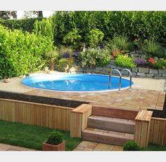 Stahlwandpool umrandung  Pool im garten   Garten   Pinterest   Pool designs, Saunas and ...
