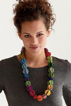 Melon Ball Necklace: Danielle Gori-Montanelli: Felted Necklace - Artful Home