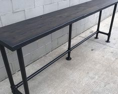 Reclaimed Wood Bar Table with Hairpin Legs Custom. Wood, Bar Table, Wood Sofa, Wood Bars, Patio Bar Set, Walnut Sofa, Table, Pub Table, Reclaimed Barn Wood