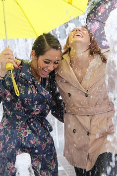 Having fun and laughing in the rain... :)