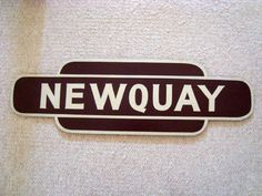 Reproduction Vintage Newquay BR Totem Sign Western Region Brown