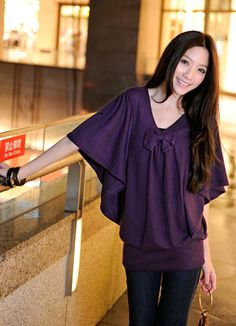 Exquisite Purple Waves Sleeve Blouses Hot Sale  Item Code:#YC1027678+Purple Price: US$25.30    Shipping Weight: 0.45KG