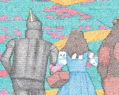 dorothy, tinny and the coward Word Drawings, Wizard Of Oz, Poster Making, Word Art, The Book, Pictures, Photos, Typography, Words