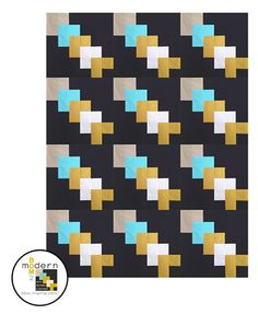 """All-New Modern Block of the Month (BOM) Sew-Along: March """"Up From Here"""" Block 
