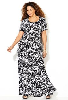 plus size black floral princess seam dress - Google Search