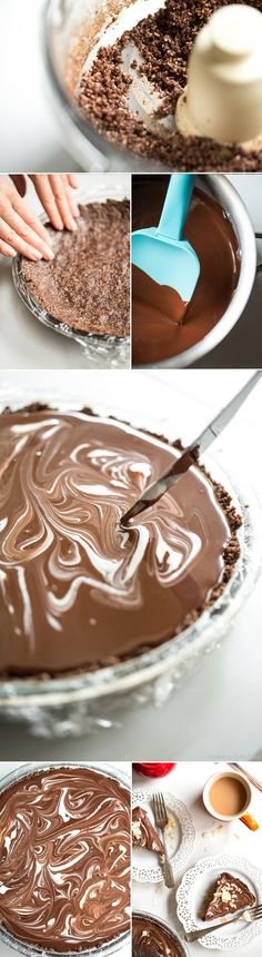 chocolatemacaroontart   Double Dark Chocolate Coconut Macaroon Tart (vegan, gluten free, grain free)
