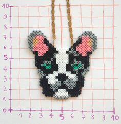 Dog necklace hama mini beads by tructoc