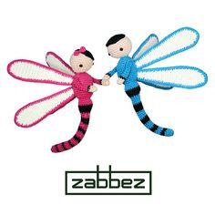"Crochet pattern amigurumi doll ""Dragonflies Dave and Lisa"" PDF"