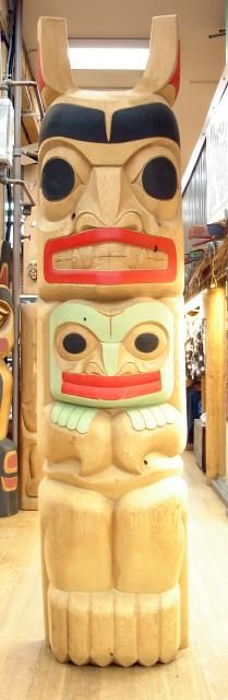 Bear and Frog Totem by Doug Horne