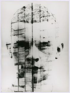 Hajo Rose, self portrait with Bahaus Dessau facade, 1930