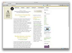 A List Apart - a web design blog