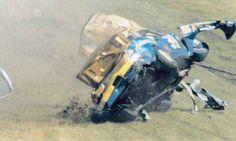 Walter Ballard crash - 1972 Daytona 500... Daytona 500, Daytona Beach, Nascar Wrecks, Nascar Crash, Dirt Racing, Daytona International Speedway, Ford Torino, Cars Series, Race Day