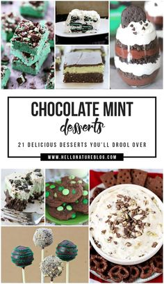 These 21 chocolate mint desserts are to die for! You'll want to indulge in every sweet treat with this winning combination of flavors. #MintChocolate #ChocolateMint #DessertRoundUp #SweetTreats #StPatricksDay