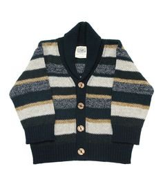 Another great find on #zulily! Navy & Cream Stripe Historian Cardigan - Infant, Toddler & Boys by Loop Collection #zulilyfinds