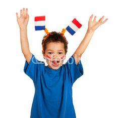 Dutch child as soccer fan