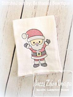Santa 91 Sketch Embroidery Design: Jazzy Zebra Designs Embroidery Applique, Machine Embroidery Designs, Sketch 4, Satin Stitch, Whats New, Christmas Shirts, All Design, Super Cute, Santa