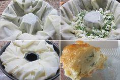 Kek Kalıbında Börek Tarifi... 3 adet yufka, 1 çay bardağı yoğurt, 1 çay bardağı sıvıyağ, 1 yumurta, İç malzeme için; Peynir, haşlanmış patates, ıspanak (hangisini tercih ederseniz)..