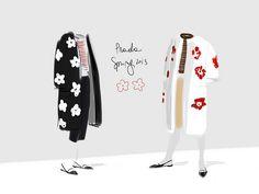 Fiori e Righe Prada Spring 2013 - Open Toe #illustration