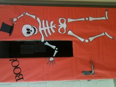 Halloween dancing skeleton door decoration for classroom
