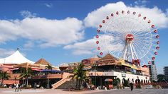Okinawa Travel-- Mihama American Village & their ferris wheel that takes 15 minutes for a complete rotation. PERFECT place to get a great view of the island and water.