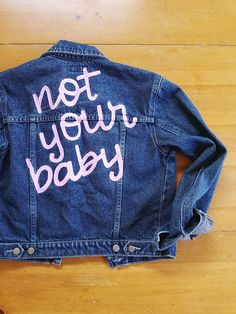 70918803ff6 hand-painted vintage esprit denim jean jacket size xs