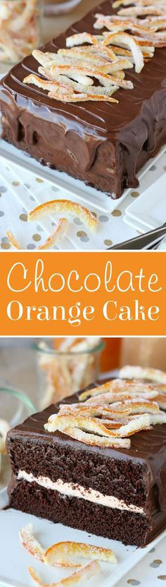 This Chocolate Orange Cake is rich, moist, flavorful and simply gorgeous! ~ Glorious Treats