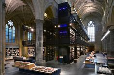 selexyz bookstore, maastricht, holland.  revamped 13th century church by merkx + girod.