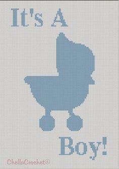 It's A Boy Baby Stroller pattern graph