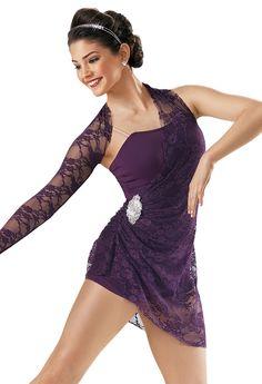 Lace Draped Short Unitard; Weissman Costumes $40