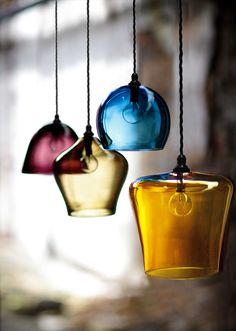 Pendant Shades | via 2017 Gallery  at curiousa.co.ukWant them all :)