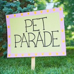 Host a Pet Parade in your community! Great idea for summertime fun! #summertime #pets #apartments