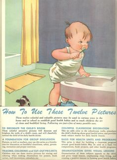 Charles Twelvetrees health posters 1952. How to use.