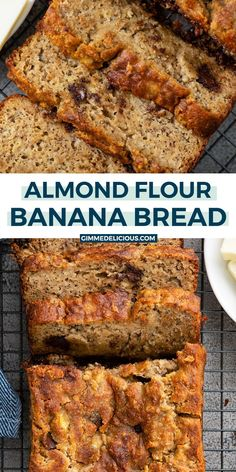 If you are looking for an incredible classic Almond Flour Banana Bread recipe, you've come to the right spot. It's sweetened with maple syrup, has ripe bananas, Banana Bread Almond Flour, Flours Banana Bread, Paleo Banana Bread, Banana Bread Muffins, Almond Flour Recipes, Calories In Banana Bread, Simple Banana Bread, Desserts With Almond Flour, Vegetarian Recipes