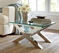Ava Metal Accent Table |   A little glam! - accent table between chairs placed on a diamond - Opt #5