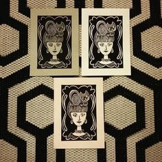 Cat Art Print The Cat Lady Limited Edition by Felinethropy
