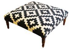 @Angelica Baltazar - take a look!    Woolen Kilim Ottoman    Divine Design    $549.00