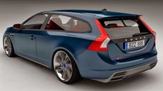Volvo V60 V8 coupe Estate Concept 2014 by Zolland Design