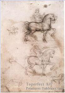 4 Equestrian Monument Leonardo Da Vinci peinture à l'huile