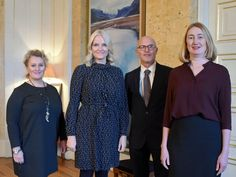 Crown Princess Mette Marit attended audiences at the Royal Palace