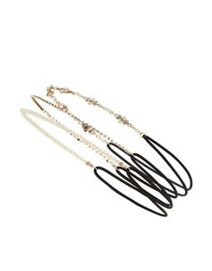 3 x Occasion Hair Bandos   Gold   Accessorize