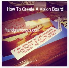 Goal Setting & Motivation - Making a Vision Board!