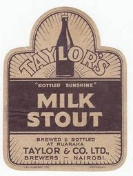 Taylor's Milk Stout, Nairobi Africa Art, East Africa, Beer Coasters, Beer Labels, Nairobi, Kenya, Brewery, Advertising, Milk