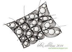 Inapod tangle pattern wonky grid