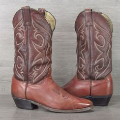 Men's Abilene VTG All Leather Cowboy Boots Made in USA Size 9.5 D