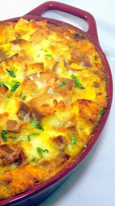 Inspired By eRecipeCards: Savory Bread Pudding (Budino di pane salato)... Pizza Strata