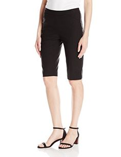 Tribal Womens Flatten It Pullon Bermuda Black 18 >>> You can find more details by visiting the image link. (This is an affiliate link) Spring Shorts, Tribal Women, Women's Shorts, Bermuda Shorts, Image Link, Casual, Black, Fashion, Moda