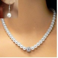 Sterling Silver Classic White Necklace, Earrings Set Swarovski Elements Crystal Pearls, 10mm Pam Jewelry,http://www.amazon.com/dp/B00646HJAS/ref=cm_sw_r_pi_dp_qCDJsb0GN7BEXP0A
